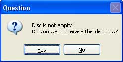Erase DVD Disc
