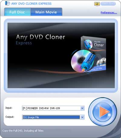 Copy DVD Movie to DVD disc with DVD Cloner